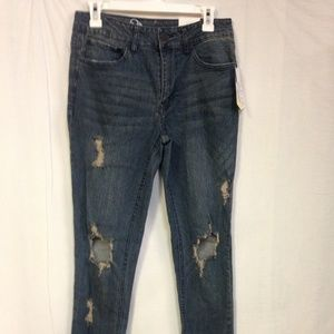 Men's  Skinny Fit Mid-Rise Destructured Jeans -NWT